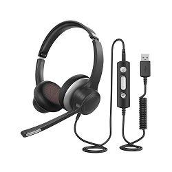 THC6 Stereo komunikacijska slušalica USB & 3.5mm